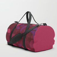 Pink and Purple Moons Duffle Bag by mirimo