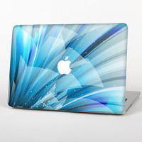 The Vibrant Curving Blue HD Lines Skin for the Apple MacBook Air - Pro or Pro with Retina Display (Choose Version)