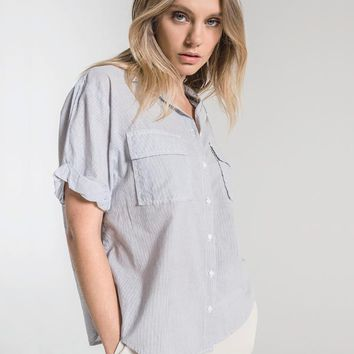 5c3cf4622449 St. Omer Striped Blouse By RAG POETS