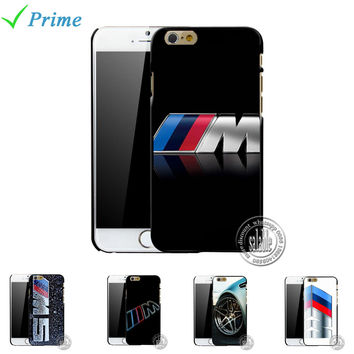 For silm BMW M Series M3 M5 logo Cover Case Hard Protective Phone Shell for iPhone 4 4s 5 5s 6 6s 7 plus 5.5 4.7 inch