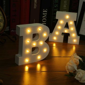 Wooden 26 Letters LED Night Light Festival Lights (Letter A to X)