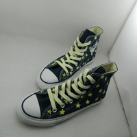 Harajuku hand-painted luminous canvas shoes