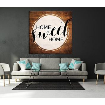 Home Sweet Home Custom House Wall Art Sign Canvas Print Personalized House Gift