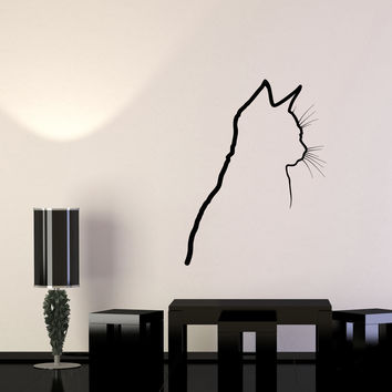Wall Decal Shadow Cat Kitten Animal Pet Vinyl Sticker Unique Gift (ed642)