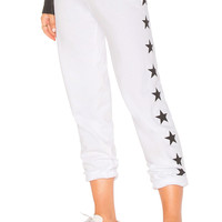 MONROW Foil Stars Vintage Sweats in White