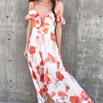 New Blooms V-Neck Maxi Dress