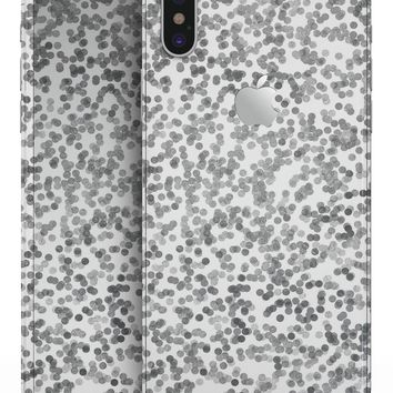 Descending Grayscale Micro Dots  - iPhone X Skin-Kit