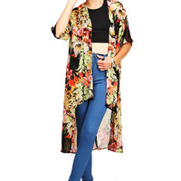 Floral Robe Cardigan