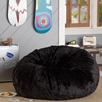 Black Luxe Fur Beanbag