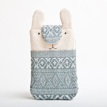 Fabric iPhone Case, Samsung Galaxy, Smartphone sleeve, Nokia Lumia, Bunny Rabbit