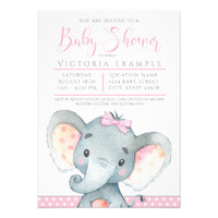 Girls Adorable Elephant Baby Shower