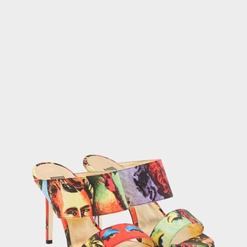 Versace Pop Art SS'91 Print Sandals for Women | US Online Store
