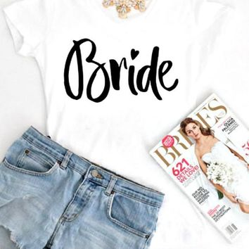 Bride To Be White Tee