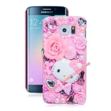 Cute Hello Kitty Case For Samsung Galaxy S8 S8plus S7edge S6 S4 S5 S6edge S7 Note4 Note5 Note2 Note3 Note7 Phone Cases Protector