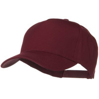 Solid Cotton Twill 5 Panel Prostyle Snap Cap - Maroon