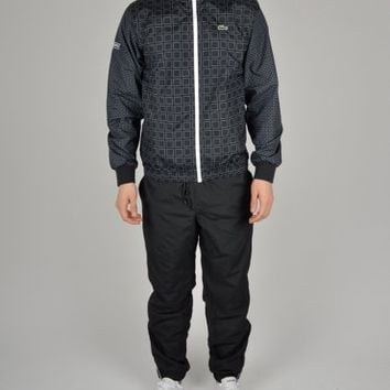 Lacoste Printed Taffeta Tracksuit WH7669 - Black