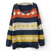 Holey Hearts Sweater