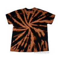 Earth Tone Spiral Tie Dye Shirt