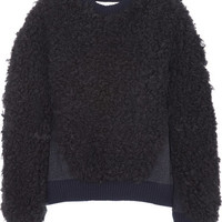 Stella McCartney | Shearling-effect knitted sweater | NET-A-PORTER.COM
