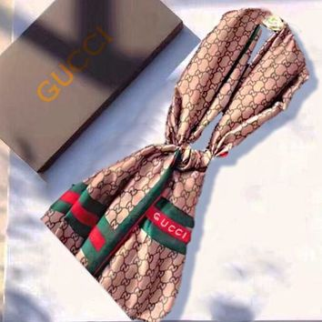 GUCCI Scarves Women Fashion Accessories Sunscreen Cape Scarves Silk Scarf