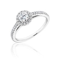 Forevermark Round Diamond Halo Ring 1 1/2ctw
