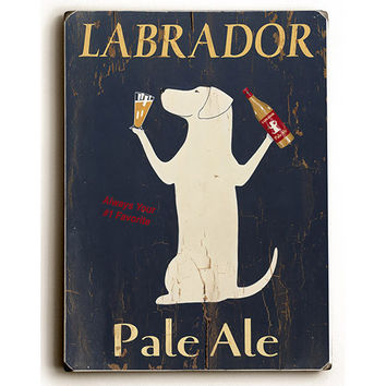 Labrador Pale Ale by Artist Ken Bailey Wood Sign
