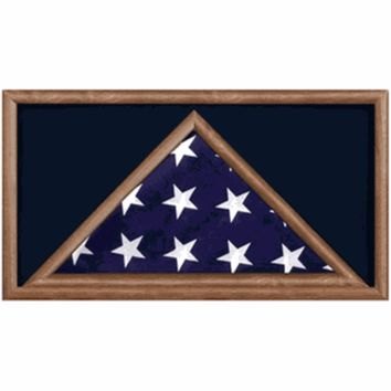Large Military Flag and Medal Display Case -Shadow Box Hand Made By Veterans