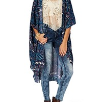 Navy Gypsy Bed Jacket