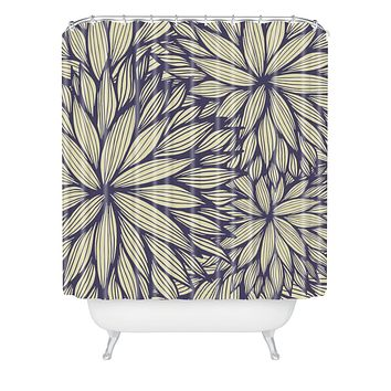 Gabi Blue Dahlia Shower Curtain