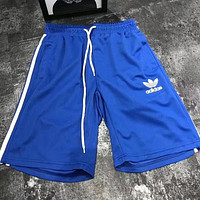 ADIDAS Clover Men and women couples casual sports shorts F-AA-XDD  blue
