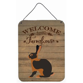 Tan Rabbit Welcome Wall or Door Hanging Prints CK6907DS1216