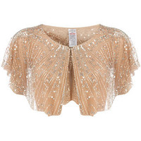 Nude embellished capelet - View All Sale - Sale & Offers - Dorothy Perkins