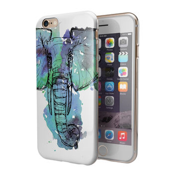 African Sketch Elephant 2-Piece Hybrid INK-Fuzed Case for the iPhone 6/6s or 6/6s Plus