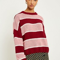 UO Striped Chenille Jumper | Urban Outfitters