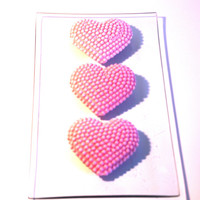WEDDING DAY FAVOR Large Heart Soaps with Bubbles