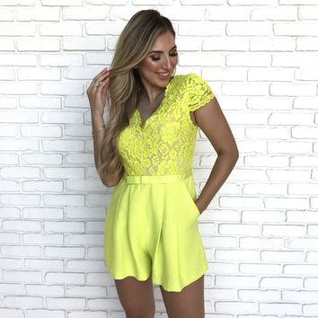 Halley Floral Lace Romper