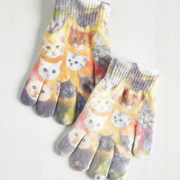 Cats Cosmic Cuddle Gloves in Cats by ModCloth