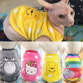2019 New Warm Cat Clothes Autumn Winter Pet Clothing for Cats Rabbit Soft Fleece Kitten Kitty Outfits Cat Coats Jacket Costumes