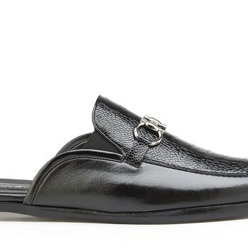 Ray Ostrich And Italian Calf House Shoe