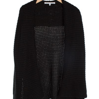 Black Chunky Knit Cardigan