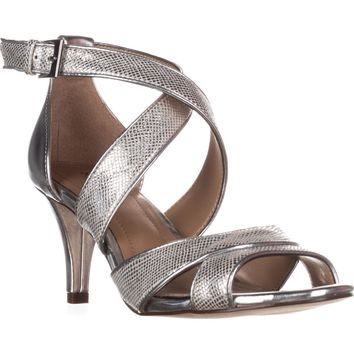 SC35 Pravati Sparkle Strappy Dress Sandals, Silver, 7 US