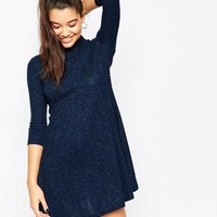 ASOS | ASOS Rib Polo Swing Dress at ASOS