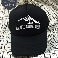 PNW Hats Pacific North West Hats Funny Hats Hipster Hats Trucker Hat