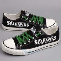 Print 2018 men women unisex Seattle diy Shoes for Seahawks fans gift size 35-44 0308-13