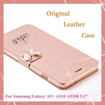 DCCKHY9 Original Wallet PU Leather Luxury Case For Samsung Galaxy A5 2016 A5+ A510 A5100 Phone Case + Screen protection(Not for A5 2015)