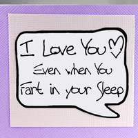 Valentines Day Card. Valentine Card. Funny Valentine Card for Him. Fart Card.