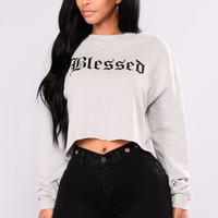 Beyond Blessed Tops - Grey