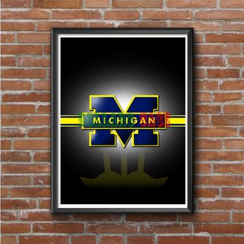 Michigan wolverine Photo Poster