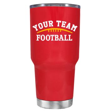 TREK Custom Football Team on Red 30 oz Tumbler Cup