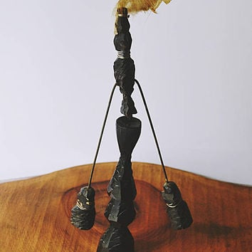 African Wood Balancing Toy, Hand Carved Wood Toy, Toy For Adults, Desk Toy